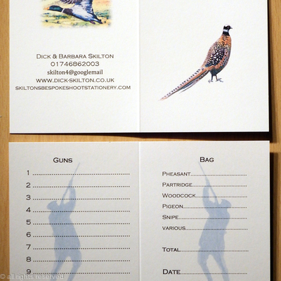 Skilton Shoot card with Reeves pheasant image