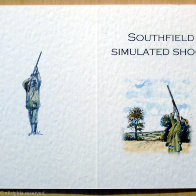 simulated shoot card cover