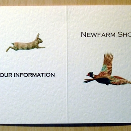 shoot card outside with pheasant and rabbit