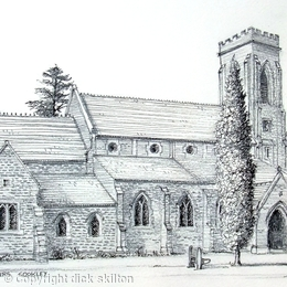 Cookley Church, St Peters greeting card