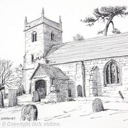 Shrawley St Marys Worcestershire greeting card