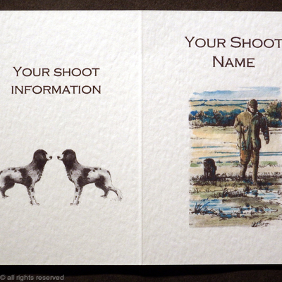 Shoot card front 'gun with dog' possible shootcard layout for your shoot