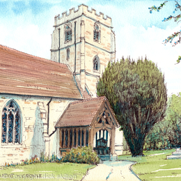 crowle church st John the Baptist  Worcestershire