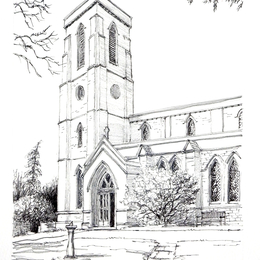 Pontesbury Church St Georges greeting card