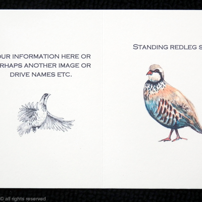 Standing redleg shoot possible layout for your bespoke shoot card or game card