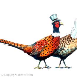 Pheasant brace wedding image