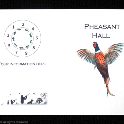 Pheasant Hall with rising pheasant