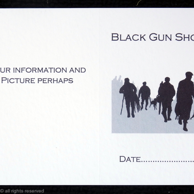 Black gun shoot possible layout and image for bespoke shoot cards
