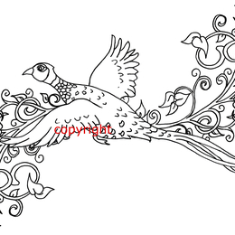 Pheasant design for shoot cards or notelets etc.