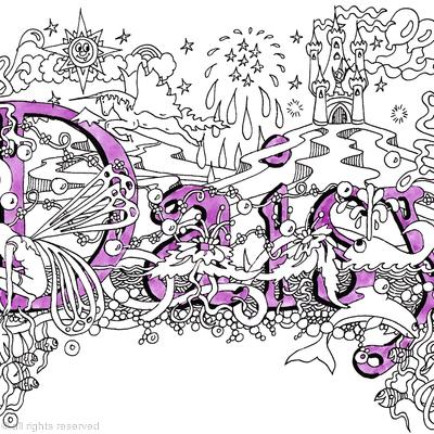 daisy girls name art design as a greeting card