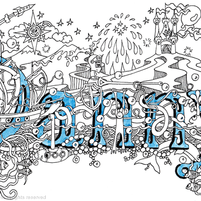 Danny name art design greeting card  (print or scan available)
