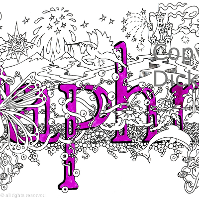 Daphne name ar design as a greeting card