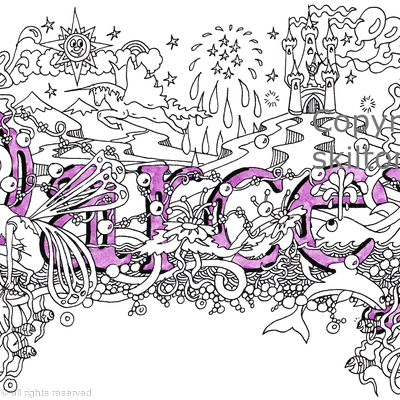 Darcey name art design greeting card