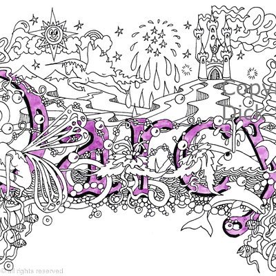 Darcy name art design as a greeting card