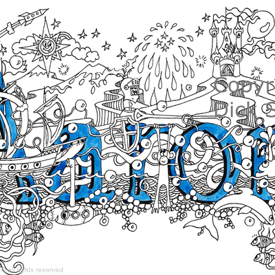 Aaron name art greeting card