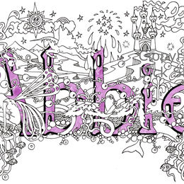 Abbie name art design on greeting card