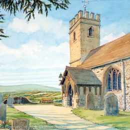 Bayton Church as a greeting card
