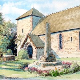 Caynham Church st Mary's,   near Ludlow as a greeting card