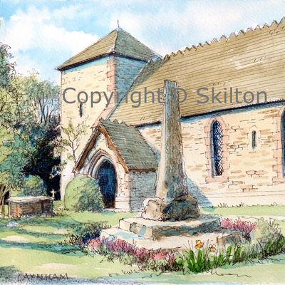 Caynham Church st Mary's, near Ludlow as a greeting card or notelet. Digital prints and postcards available. This makes an ideal wedding invitation or thank-you card