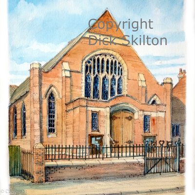 Highley Methodist church printed as a greeting card, or notelet. Digital prints available on request.