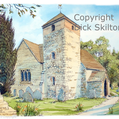 Burwarton and Cleobury north church as a greeting card, notelet or Thank-you card or even invitation.