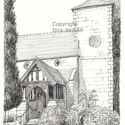 Beckbury Church St. Milburga as a greeting card,  notelet or thank-you card or invitation. Digital prints available.