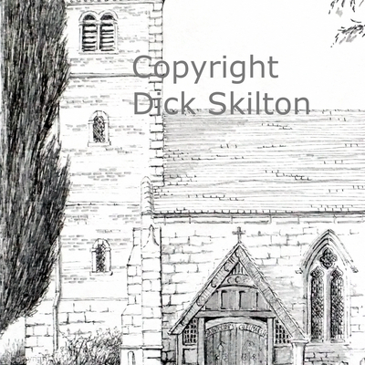 Chelmarsh church St Peters as a greeting card. prints and postcards available on request. I do have a watercolour version of this, Originals are available.