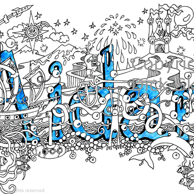 Aidan name art design as a greeting card but can be signed print or scan for your use
