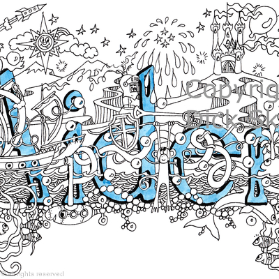 Aiden name art design as a greeting card . Prints and scans available on request