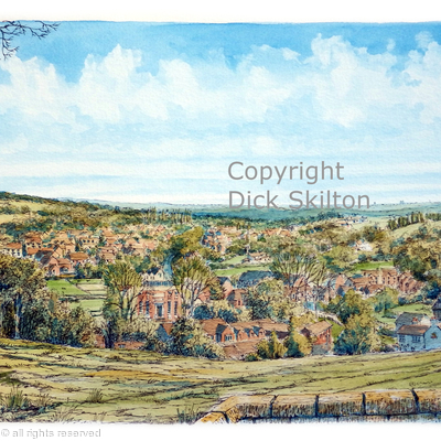 Kinver, the view from the church as a greeting card. Prints available.