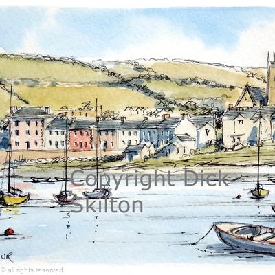 Aberaeron Harbour  as a greeting card