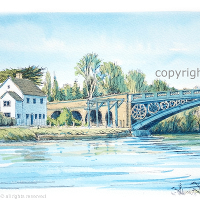 Stourport south side of the bridge Greeting card