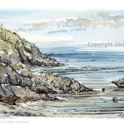 Parrog, Pembrokeshire Coastal Path as a greeting card