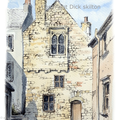 tenby the merchants house greeting card or print