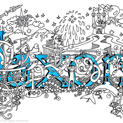 Jaxon name art design as a greeting card