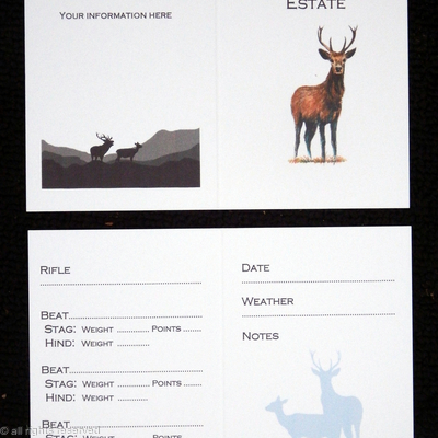 Deer stalking record card example
