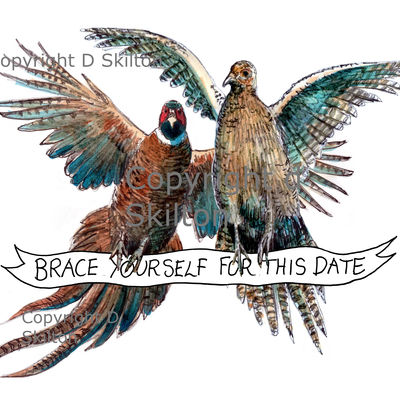Pheasants brace 'Save the date' or any other caption you wish