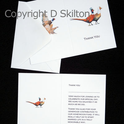 Thank you cards after wedding example, anything can be changed to suit you.