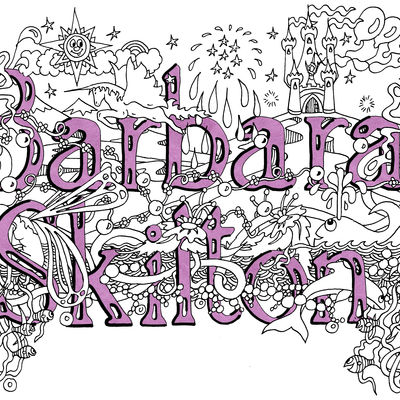 Fairy design with first name and surname within the design sold as a jpeg for you to copy and use.