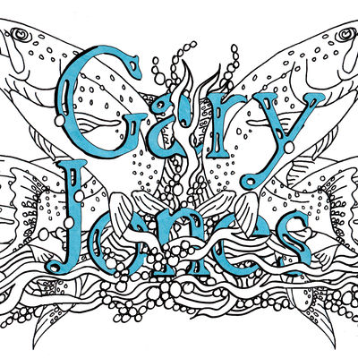 Fish design with any first name and surname sold as a jpeg for your own use.