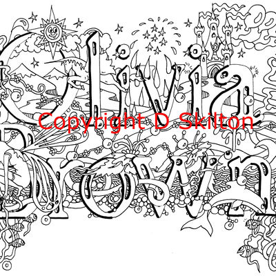 fairy design with full first and family name sold as a scan. Olivia Brown just an example.
