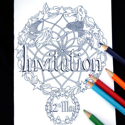Invitation example with date Mermaids
