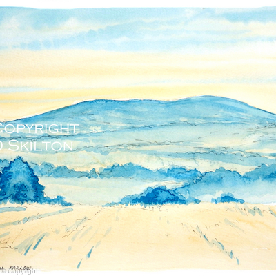 BROWN  CLEE from Farlow evening image as a notelet or greeting card. Prints and original available.