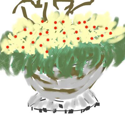 Pauline's vase of Primroses
