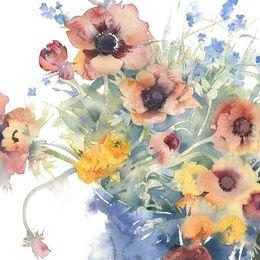 KO.102 bucket of spring flowers