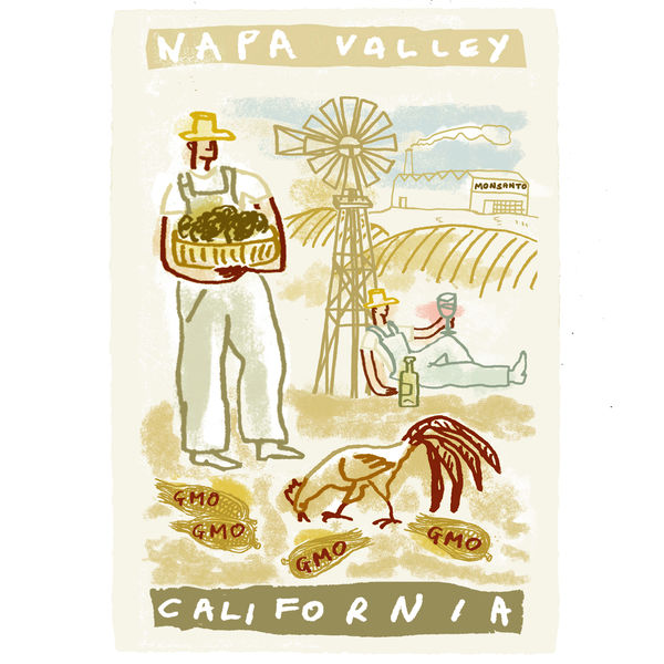 Napa Valley travel poster