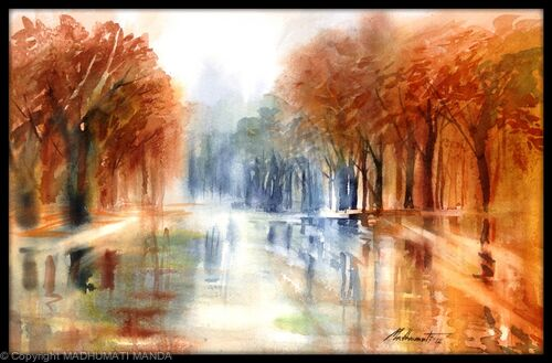 Reflections on a wet Autumn day...