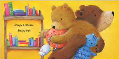 A spread from board book, 'Sleepy Me' by Marni McGee