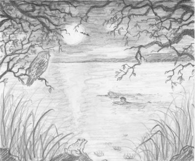 Gallery For gt Lake Sketch