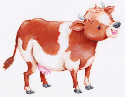 C is for Cow (from animal alphabet / Ali Ink)